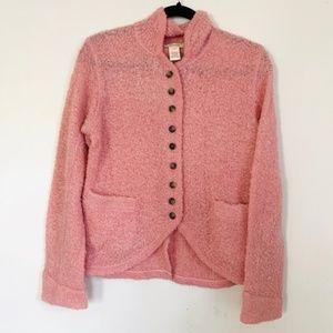 Sundance Wool Mohair Blend Pink Button Cardigan S